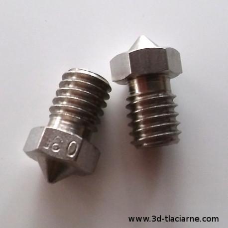 Tryska nerezová (12,5mm): pre 1,75 resp. 3,00 filament