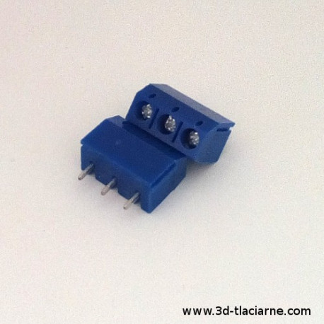 Konektor - Terminal Block, 5mm, modrá