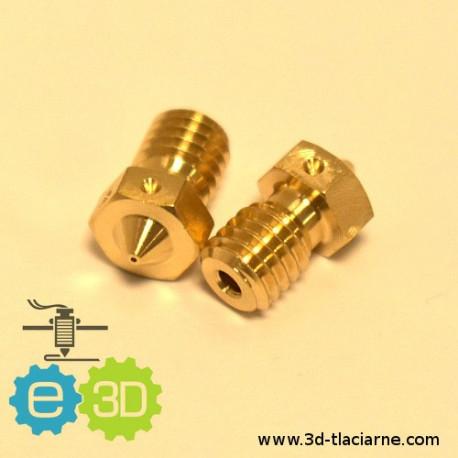 E3D tryska mosadzná (0,4mm)