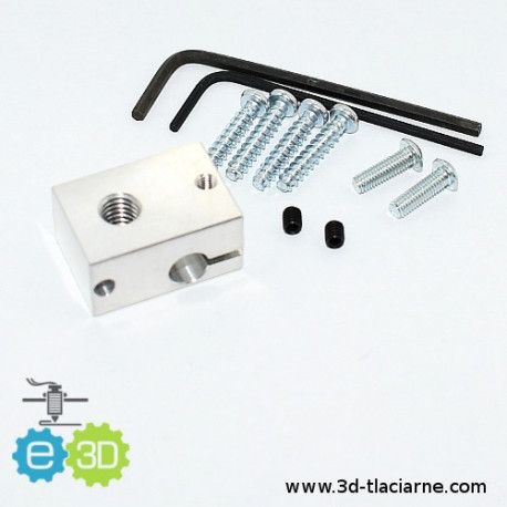 Hotend E3D kocka - V6 universal fixing kit