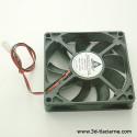 Chladiaci ventilátor 12V axiálny 80x80x10mm