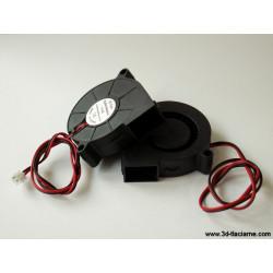 Chladiaci ventilátor 12V radiálny 50x50x15mm