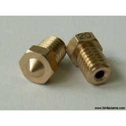 Tryska V6 mosadz 1,0 mm - 1,75 filament