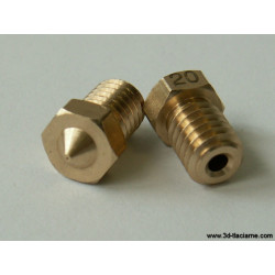 Tryska V6 mosadz 1,0 mm pre 1,75 filament
