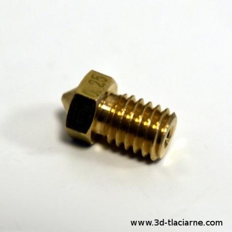Tryska V6 mosadz 0,25 mm pre 1,75 filament