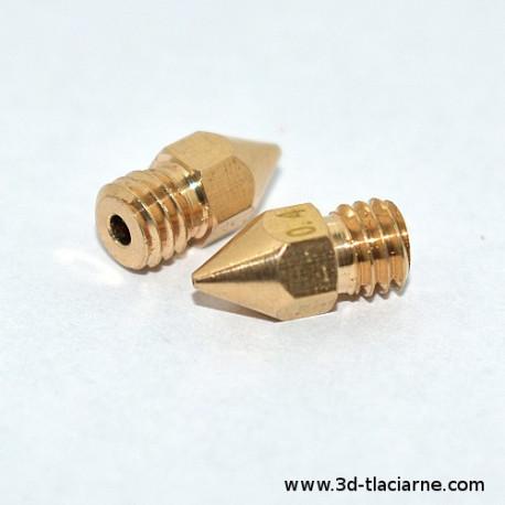 Tryska MK8 mosadzná 1.0 mm - 1,75 mm filament