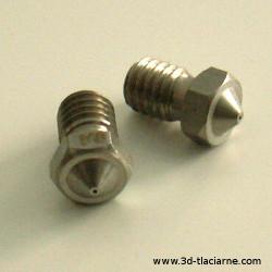 Tryska V6 nerezová 0,6 mm - 1,75 mm filament