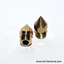 Tryska MK8 mosadzná 0.4 mm - 3,00 mm filament