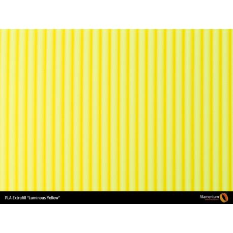PLA Extrafill vzorka - Luminous Yellow Fillamentum