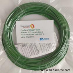 PLA Extrafill vzorka - Green Grass Fillamentum