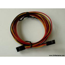 Prepojovací kábel (3 žilový) s koncovkami