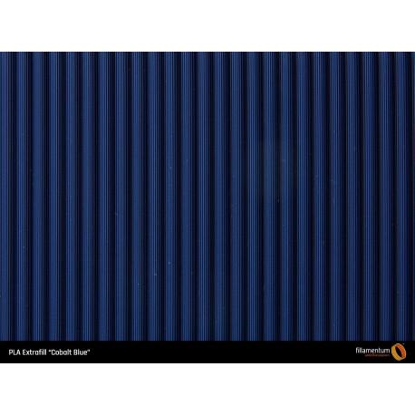 PLA Extrafill vzorka - Cobalt Blue Fillamentum