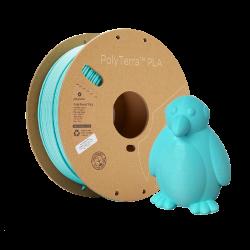 PLA PolyTerra vzorka - Artic Teal 1,75mm Polymaker 30g