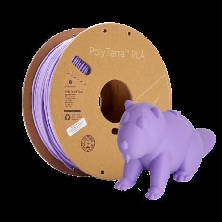 PLA PolyTerra vzorka - Lavender Purple 1,75mm Polymaker 30g