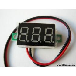 Voltmeter s LED displejom