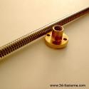 trapézova závitová tyč so skrutkou - stúpanie 2mm