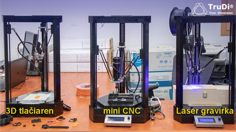 Skladačka multifunkčnej 3D tlačiarne TRUDI skladom